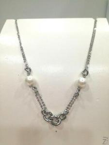 Collana donna Zoppini in acciaio e perle cod. Q1619_0094