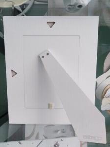 Cornice in legno bianco con cerchi viola Estego foto 13x18h cm COD. 4302.1