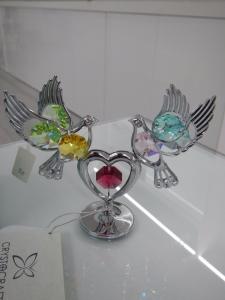 Coppia uccellini Bird Crystocraft Cristalli Swarovski Original U0164-001-CM1
