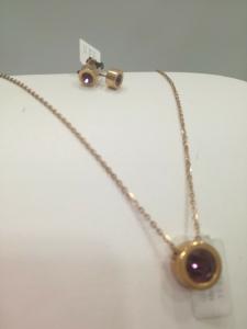 Parure donna Zoppini (collana+orecchini) con swarovski ametista LISTINO 64