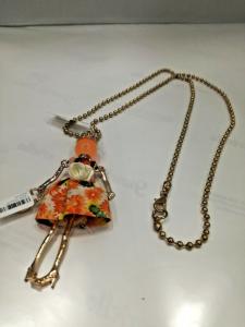 Collana donna con pendente ballerina (arancio) Manuel Zed Q2315 LISTINO 30