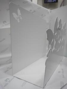 Portariviste in metallo bianco Mascagni cod. 20QGARDEN