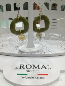 Orecchini Via Roma Gioielli Verde oliva