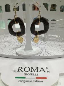 Orecchini donna Via Roma Gioielli marroni