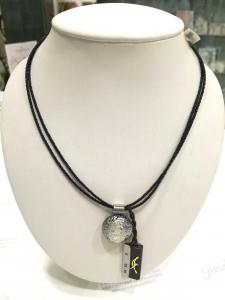 Girocollo donna  La Murrina classica con ciondolo di murano argento nero 75531