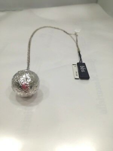 Collana lunga donna Bliss  in argento 925 con  diamantino laterale