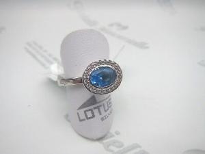 Anello donna in argento 925 con zircone ovale azzurra Lotus  cod. LP1706-3/5