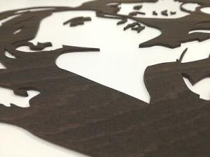 Capoletto iDettagli  legno bianco con Maternità taglio laser Q550160