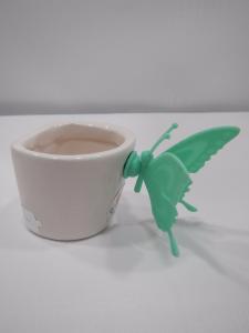 Bomboniere Portaconfetti in ceramica  con farfalla Cuorematto D4891 d4983