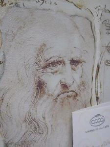 Quadro Acca in legno omaggio Leonardo da Vinci Uomo Vitruviano cod. QD.81 LD