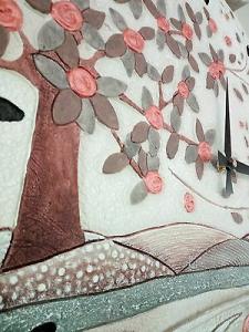 Orologio da parete moderno Cartapietra Foglie al vento 45048RM