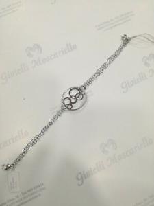 Bracciale Blu Amante con ciondolo tondo in argento 925 BBR935OR