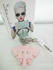 Portachiavi Le Briciole con Elefante in pelle rosa cod. SX204