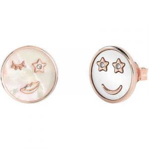 Completo donna collana con orecchini rosè e madreperla bianca Bliss 20085232+234