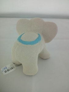 Elefante in porcellana Capodimonte Alexia Baby Celeste 8032/2c