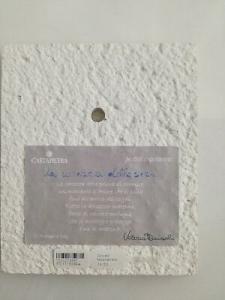 Formella da parete/tavolo Cartapietra Carezza della Sera cod. PC111388RA