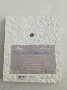 Formella da parete/tavolo Cartapietra Carezza della Sera cod. PC111388AZ