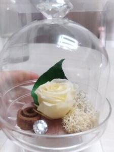 Alzatine con rose stabilizzate Cuorematto Cuor di rosa D5753 (entrambe incluse)