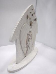 Natività Sacra famiglia Q&Q in legno rifinita artigianalmente PRC1/25*25