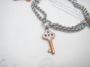 Bracciale donna in acciaio con pendente chiavi Lotus LS1530-2/2