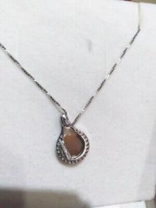 Collana in argento 925 con ciondolo Cameo Inciso a Mano e zirconi 04/20