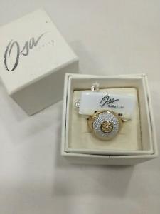 Anello donna Osa cod. 9808  color oro con strass misura 15/16