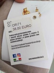 Orecchini grandi MasMas pendenti bordeaux pietre dure Made in ITALY cod OR