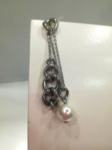 Orecchini donna Zoppini in acciaio e perle cod. MPF55.00