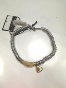 Bracciale donna Zoppini in acciaio con ciondolo cuore   LISTINO 39