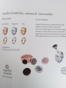 Anello componibile in acciaio rosè Qudo Jewerly + Top bottone 13 mm bianco
