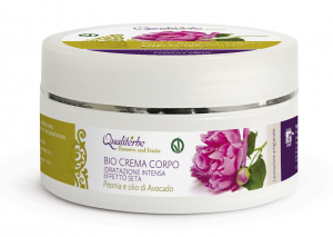 Bio Crema Corpo Effetto Seta 200 ml - Flowers and Fruits - (Vegan ok, no Parabeni, no PEG)