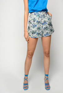 SHOPPING ON LINE PINKO SHORTS IN BROCCATO FLOREALE NEW COLLECTION WOMEN'S SPRING SUMMER 2021