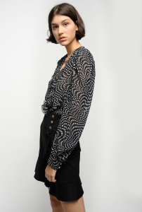 SHOPPING ON LINE PINKO BLUSA FLUIDA IN GEORGETTE POIS ASIMEMTRICO ASTROMETRIA 3 NEW COLLECTION WOMEN'S SPRING SUMMER 2021