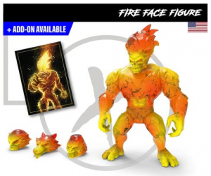 Mighty Maniax action figure: FIRE FACE by Rocom Toys