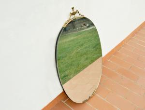 Specchio ovale vintage