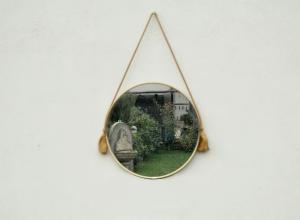 Specchio vintage rotondo