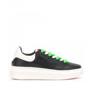GAELLE PARIS Sneakers  lacci 2 colori   GBDA1725 NERO  -19