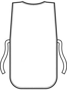GREMBIULE A PONCHO CON TASCHE TAGLIA UNICA POL/COT 195gm2