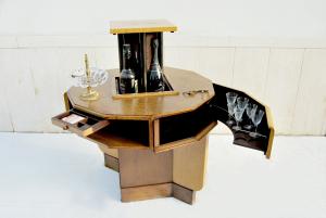 Tavolino mobile bar vintage anni '50
