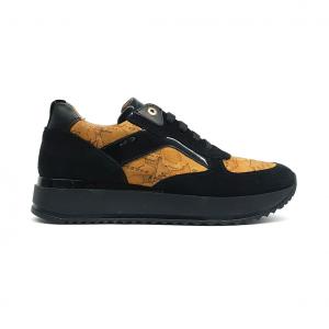 Sneaker nera/geo 1a Classe by Alviero Martini