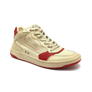 Sneaker bianco sporco/rossa Guess