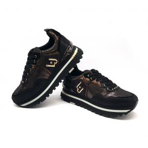 Sneaker nera effetto spalmato Liu Jo
