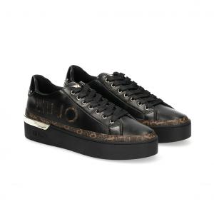 Sneaker nera con dettagli monogram Liu Jo