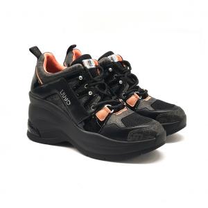 Sneaker nera con zeppa Liu Jo