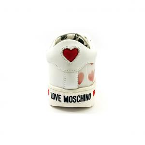 Sneaker bianca/olografica Love Moschino