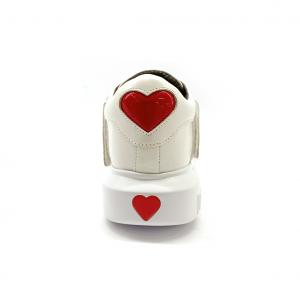 Slip on bianco con cinturini Love Moschino