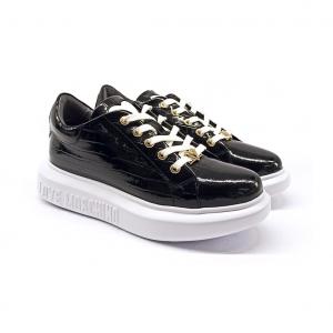 Sneaker nera in cocco Love Moschino