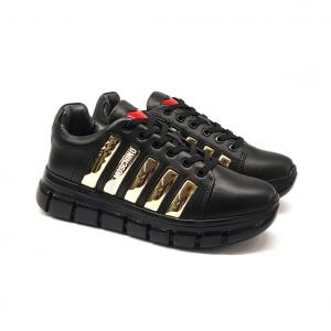 Sneaker nera/platino Love Moschino