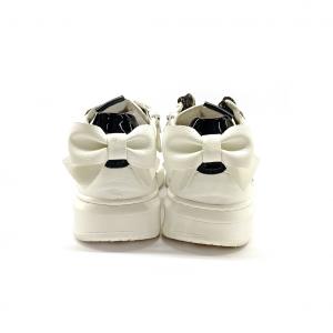 Sneaker bianca con fiocco NeroGiardini