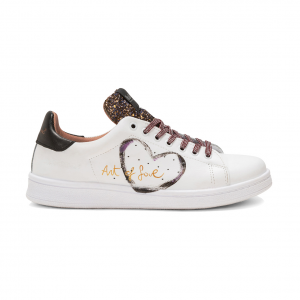 Sneaker bianca con glitter NiRa Rubens
